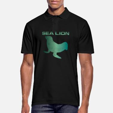 Lion Seal Seal Sea Lion Walrus Gift - Men's Polo Shirt