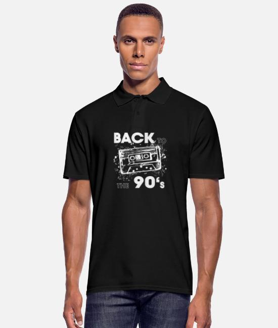 Cd Polo Shirts - Back to the 90's - Men's Polo Shirt black