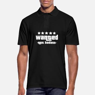 Gangster Wanted real badass - Men's Polo Shirt