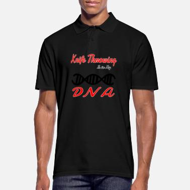 Knife Party In My DNA DNS Hobby van de pret Knife Throwing - Mannen poloshirt