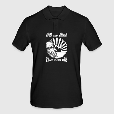 Bliss on the beach you can live in bliss - Men's Polo Shirt