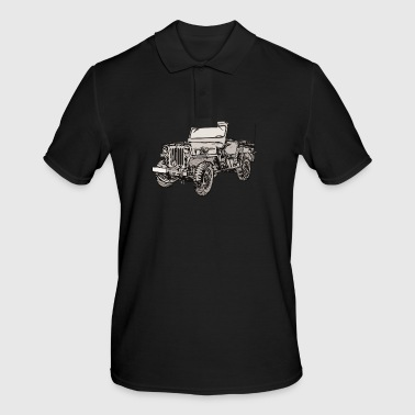 Willy's jeep drawing - Men's Polo Shirt