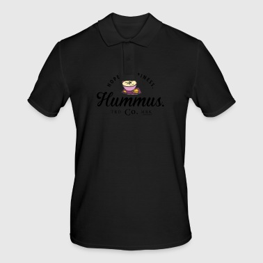 Hope. Happiness. Hummus. - Männer Poloshirt