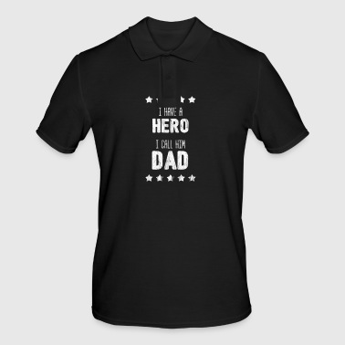 Dad Father Father's Day Men's Day Gift Hero - Men's Polo Shirt