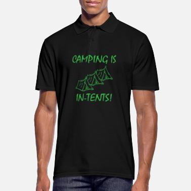 Camping Camping is Intense Camper Camp Fire Camping - Men's Polo Shirt