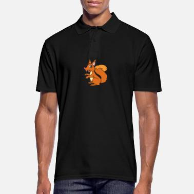 Squirrel Squirrel - squirrel - Men's Polo Shirt