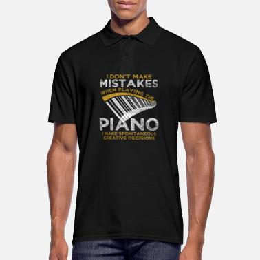 Creative Piano piano grand piano music instrument musician - Men's Polo Shirt