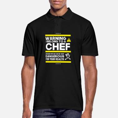 Chef Chef Lover's Warning - Men's Polo Shirt