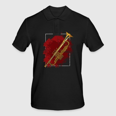 Trumpet music instrument musician orchestra opera - Men's Polo Shirt