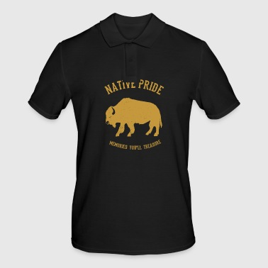 Native Americans Native American bison - Men's Polo Shirt