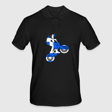 Greece World BMX racing flag - Men's Polo Shirt