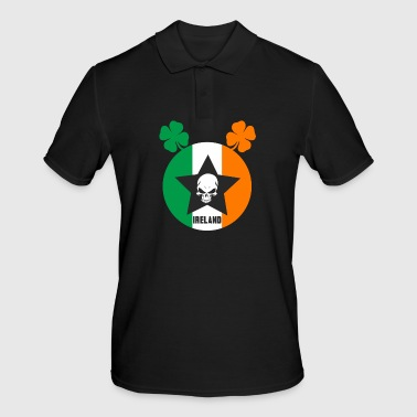 Ireland star with skull and shamrock - Men's Polo Shirt