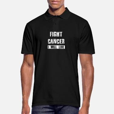 Fight Cancer Fight cancer - I will live - Men's Polo Shirt