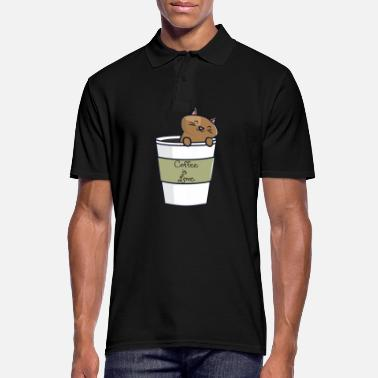 Cafe Cat in the cafe - Men's Polo Shirt