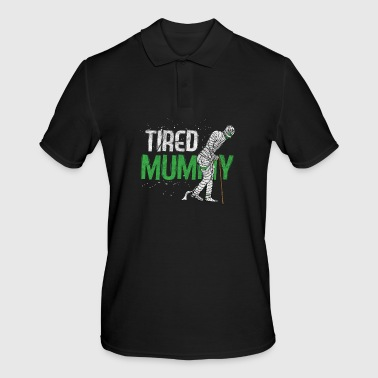 Mummy Mummy - Tired Mummy - Männer Poloshirt
