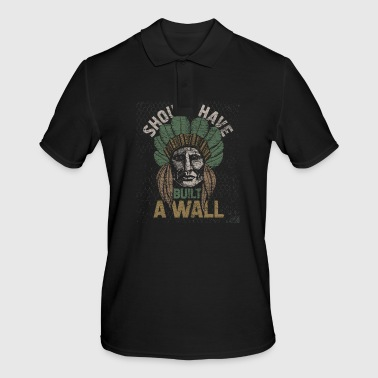 Native American USA Indian Wall Messico Trump - Polo da uomo