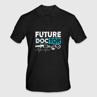 Future Doctor medicine student funny saying - Men's Polo Shirt