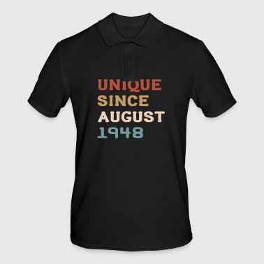 born 1948 70th birthday August gift - Men's Polo Shirt