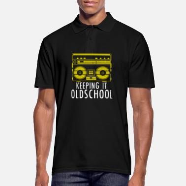 Old School Hip Hop Old School Boombox - Ghettoblaster Music Hip Hop - Men's Polo Shirt