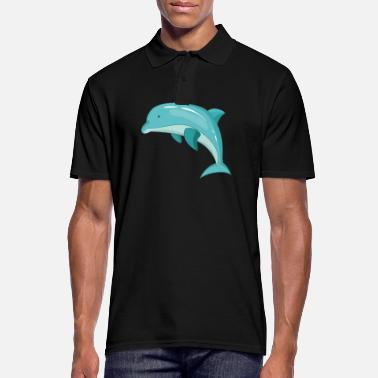 Marine Dolphin mammal marine animal - Men's Polo Shirt