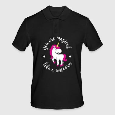 Unicorn cute horse animal soft toy pink glitter - Men's Polo Shirt