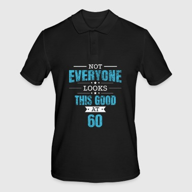 60th Birthday Gift Retro Sixty 60 Years Look This Good Blue - Polo da uomo
