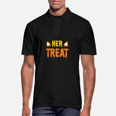 Trick Or Treat Halloween Her Treat Funny Matching Couple Part 2 - Men's Polo Shirt