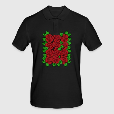 Rose Red Roses (Transparent) - Men's Polo Shirt