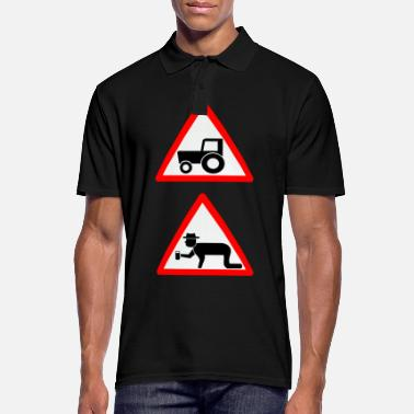 Tractor Farmer at work. Gift - Men's Polo Shirt