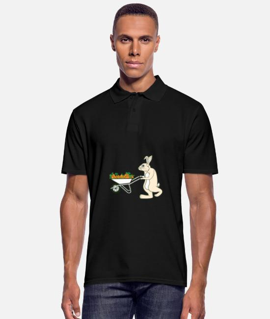 Easter Polo Shirts - Bunny rabbit Easter feast Easter bunny Easter gift - Men's Polo Shirt black