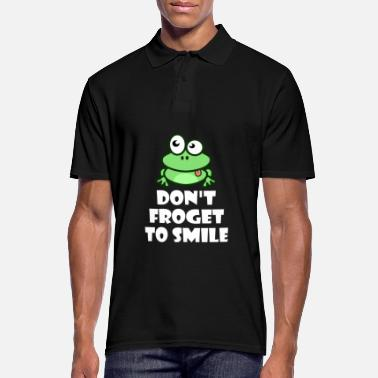 Tree Frog Frog Frogs Happy Tree Frog Smile - Men's Polo Shirt