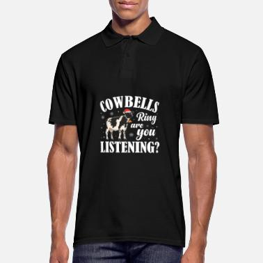 Cool Christmas Funny Cowbells Ring Cow Lover Xmas Gift - Men's Polo Shirt