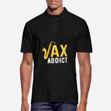 Papá Sax Addict Saxophone Jazz Music Player Idea de regalo - Camiseta polo hombre
