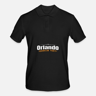 Over Bachelor Party Shirt New Orlando Pre Wedding Celebration Tee - Men's Polo Shirt