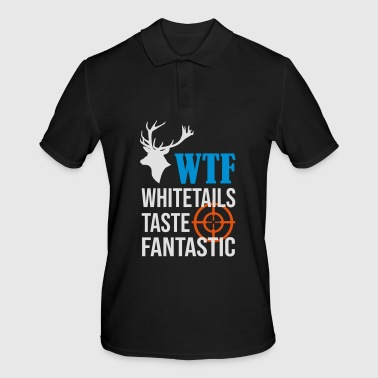 WTF whitetails bouton chasse fantastique - Polo Homme