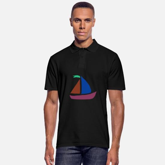 Birthday Polo Shirts - boat - Men's Polo Shirt black