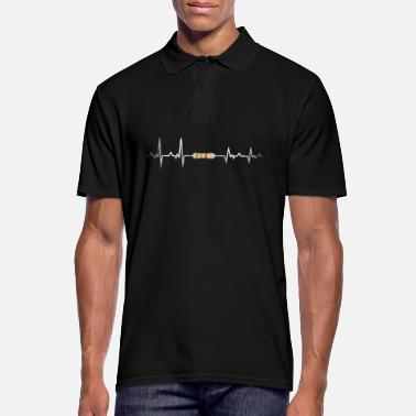 Class Struggle Electrical engineering resistance heartbeat EKG - Men's Polo Shirt