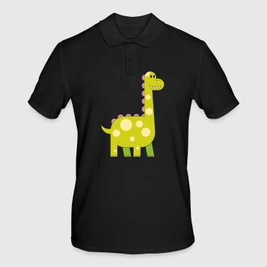 happy dinosaur cuddly toy child sweet primal time - Men's Polo Shirt