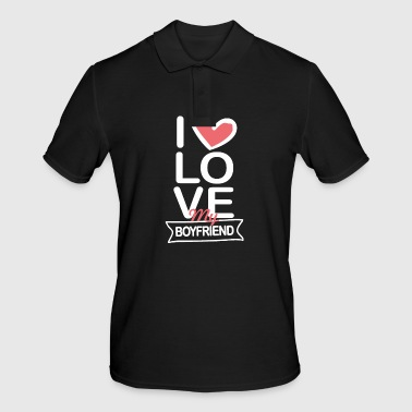 I love my boyfriend - Men's Polo Shirt
