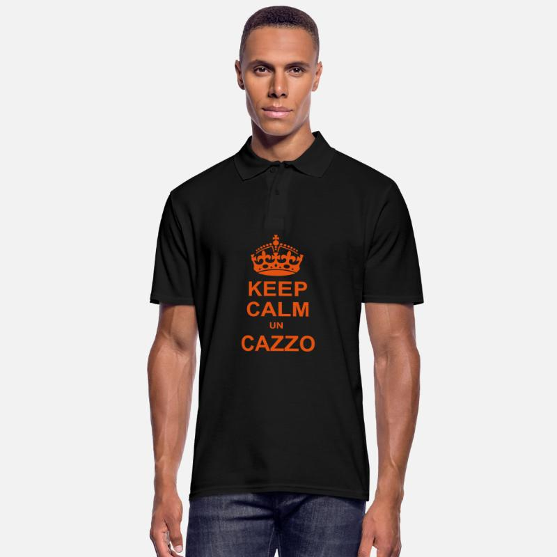 Keep Calm Polo - KEEP CALM UN CAZZO - Polo uomo nero