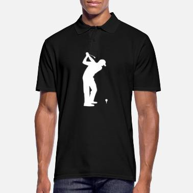 Golf Golf Golfer Golfer Golf Course - Poloskjorte for menn