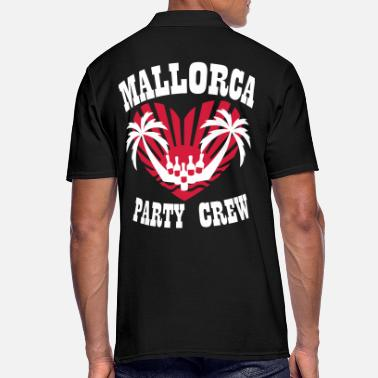 Partnerlook 84 Mallorca Malle Party Crew Herz Palmen - Männer Poloshirt