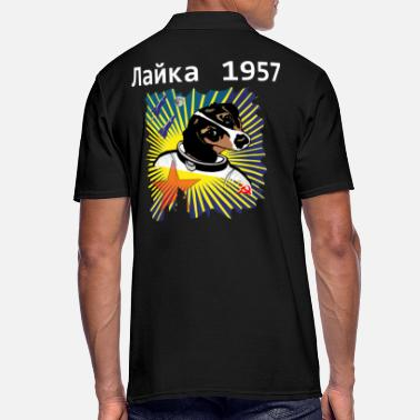 Dog in Space, LAIKA 1957 Space Gifts - Men's Polo Shirt