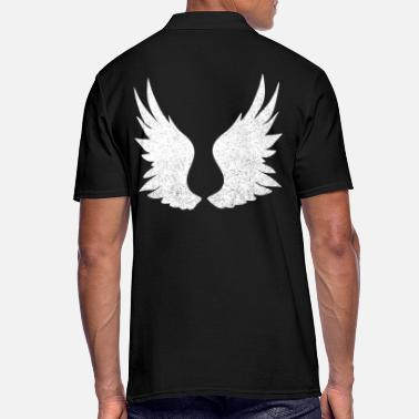 Angel's Wings Angel wings, white wings - Men's Polo Shirt