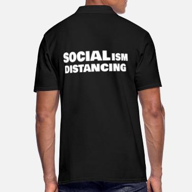 SOCIALism DIstancing - Men's Polo Shirt