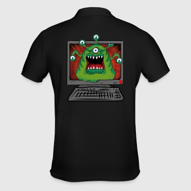 Monster Pc, Gamer, Halloween, - Männer Poloshirt