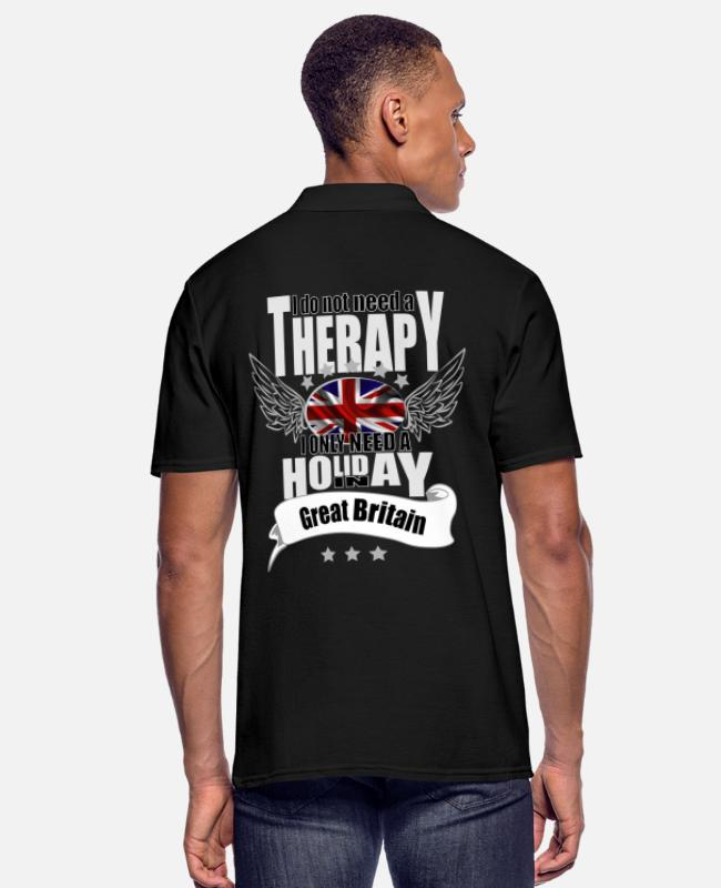 Therapy Polo Shirts - no therapy England - Men's Polo Shirt black