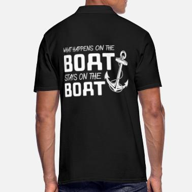Speed What Happens On The Boat Stays - Men's Polo Shirt
