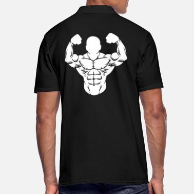 Poids Bodybuilder homme fort bâtiment muscle muscle sport - Polo Homme