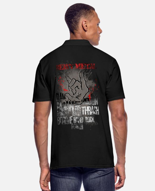 Heavy Metal Camisetas polo - Heavy Metal - Camiseta polo hombre negro